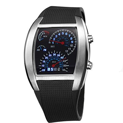 TVG blau LED Herren l light Gummi Dive Handgelenk Uhren Remasuri schwarz C622