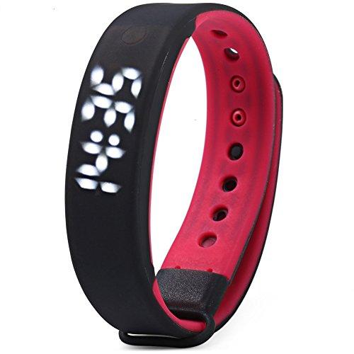 Leopard Shop TVG KM 133S Unisex Sport Armbanduhr LED Kalenderfunktion magnetisch Wasserfest