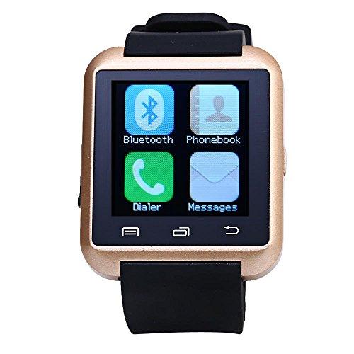Leopard Shop U8S Outdoor Sport Smart Watch Bluetooth 3 0 Fernbedienung Kamera Golden
