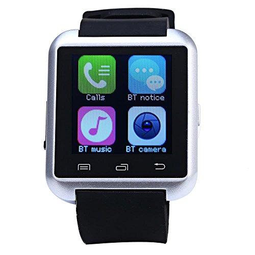 Leopard Shop U8S Outdoor Sport Smart Watch Bluetooth 3 0 Fernbedienung Kamera silber