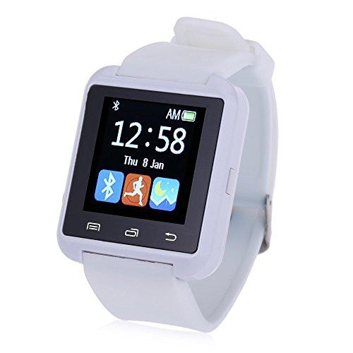 Leopard Shop U8S Outdoor Sport Smart Watch Bluetooth 3 0 Fernbedienung Kamera Weiss