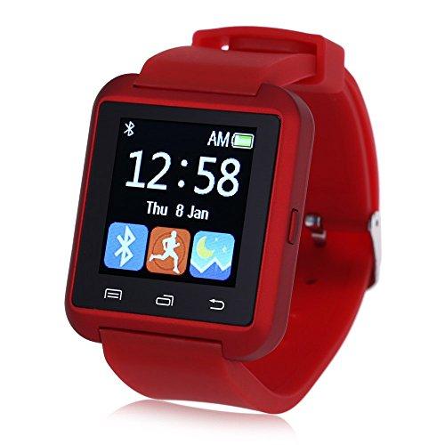 Leopard Shop U8S Outdoor Sport Smart Watch Bluetooth 3 0 Fernbedienung Kamera Rot
