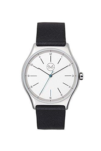 slim made one 02 Extra schlanke unisex Armbanduhr in silber schwarz