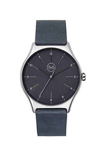 slim made one 05 Extra schlanke unisex Armbanduhr in silber schwarz