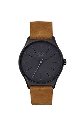 slim made one 06 Extra flache Armbanduhr in schwarz braun
