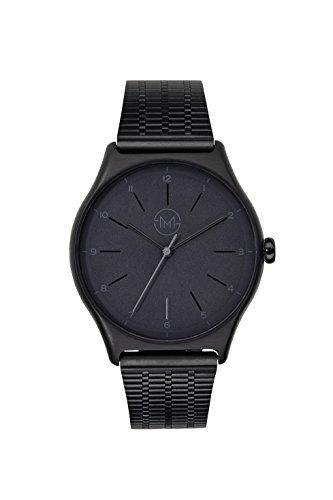 slim made one 07 Extra schlanke unisex Armbanduhr in schwarz