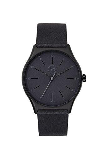 slim made one 08 Extra schlanke unisex Armbanduhr in schwarz