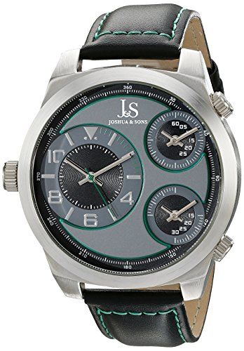 Joshua Sons Herren Analog Display Japanisches Quartz Black Watch JS88GN
