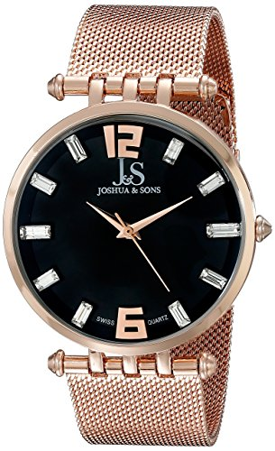 Joshua Sons Herren Analog Display Swiss Quartz Rose Gold Watch JS90RG