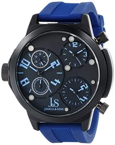 Joshua & Sons Herren Armbanduhr Analog Display Quarz blau