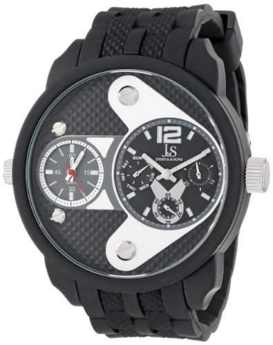 Joshua & Sons Herren Armbanduhr Schwarz -