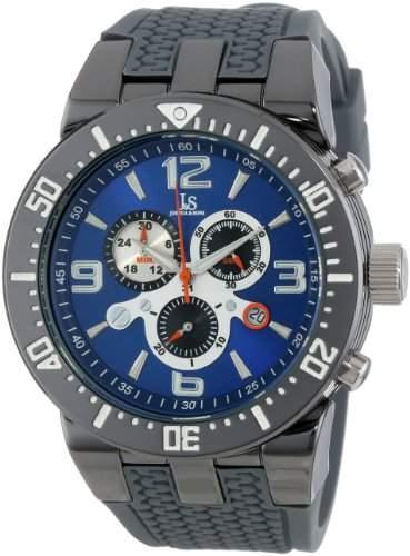 Joshua & Sons Herren Schweizer Chronograph Grau Sport Armbanduhr