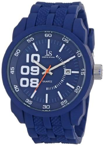 Joshua & Sons Herren Armbanduhr Analog Display Japanisches Quarz-Blau