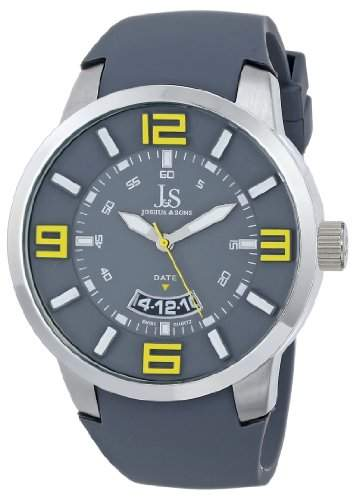 Joshua & Sons Herren Armbanduhr Analog Display Swiss Quarz grau