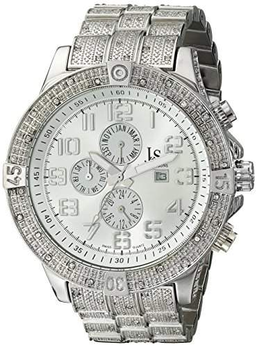 Joshua & Sons Herren-Swiss Quarz Multifunktions silberfarbenes Armband Armbanduhr