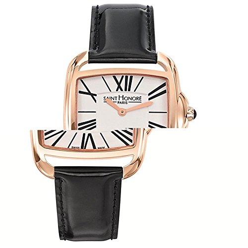 Saint Honore Charisma Damen Schwarz Leder Armband Uhr 721061 3AR