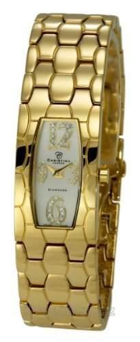 Christina Design London Damen-Armbanduhr Analog Gelbgold 128GW