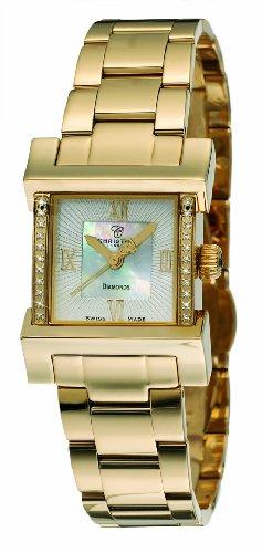Christina Design London Damen Armbanduhr Wave Analog Gold 142GW