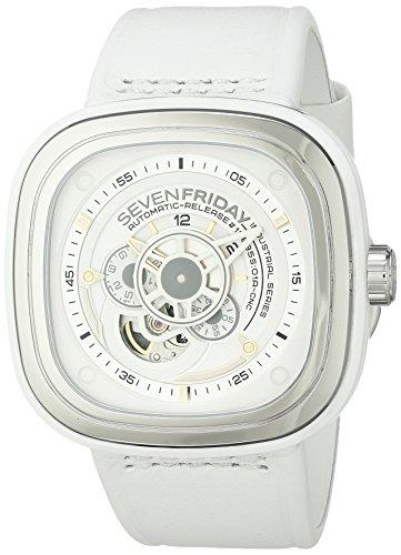 SevenFriday Mens P1 2 Industrial Essence White Watch