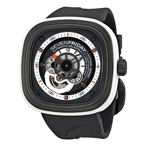 SevenFriday Mens P3 3 Industrial Engines Grey Watch