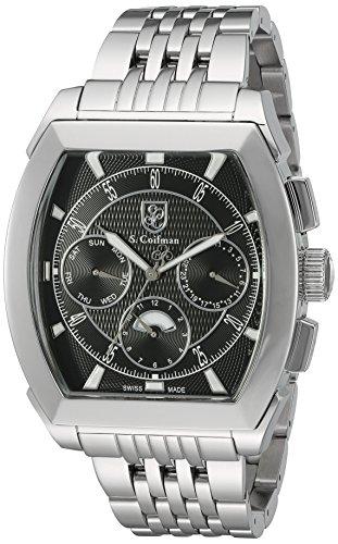 s COIFMAN Herren Armband Swiss Quarz Edelstahl Automatik Uhr Farbe silberfarbene Modell sc0092