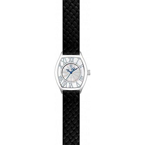 S Coifman Damen Armbanduhr Armband Leder Schwarz Gehaeuse Edelstahl Quarz Zifferblatt Weiss Analog SC0383