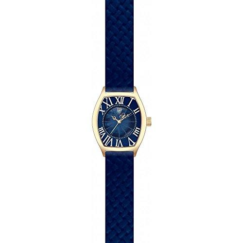 S Coifman Damen Armbanduhr Armband Leder Blau Gehaeuse Edelstahl Schmelz Flamme Quarz Analog SC0385
