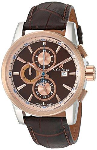 S Coifman Herren Armbanduhr Chronograph Quarz SC0254