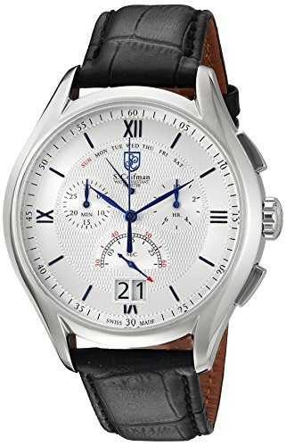 S Coifman S Coifman Chronograph Leder Schwarz SC0322