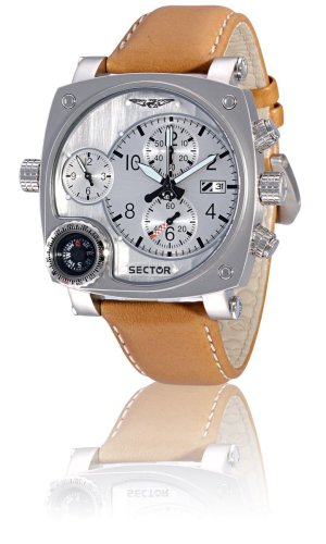 Sector Herren Armbanduhr Chronograph Quarz Leder R3251907015