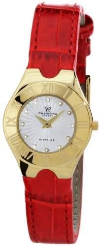 Christina London Damen-Armbanduhr Analog Quarz Leder 130GWR
