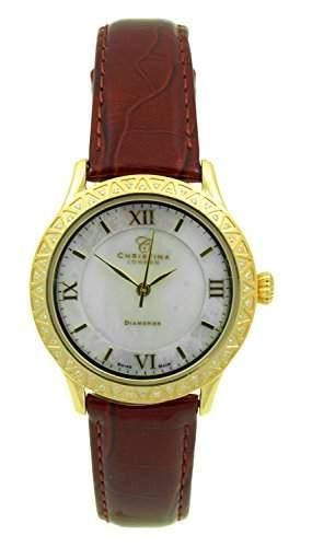 Christina London Damen-Armbanduhr Analog Quarz Leder 134GWBR2