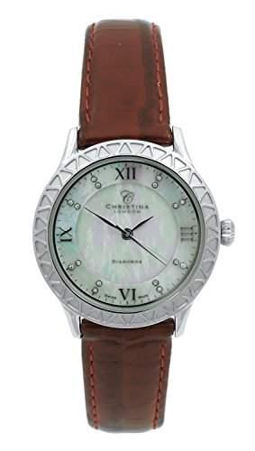 Christina London Damen-Armbanduhr Analog Quarz Leder 134SWBR