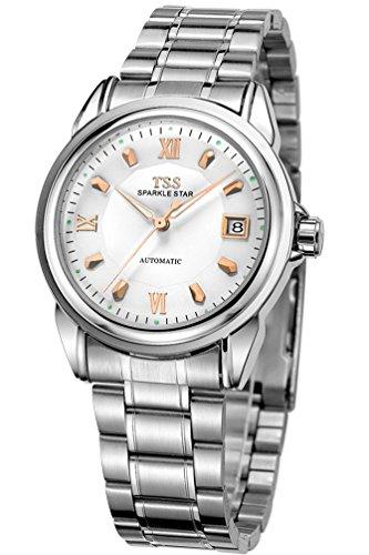 TSS Herren t5001 C3 Automatische Luminous Armbanduhr mit Edelstahl Band
