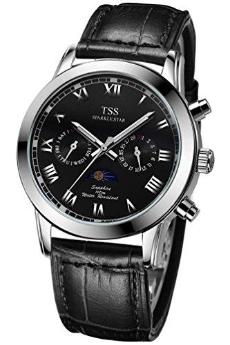 TSS Herren t5020pc2 Quarz Untergang Armbanduhr mit Leder Band