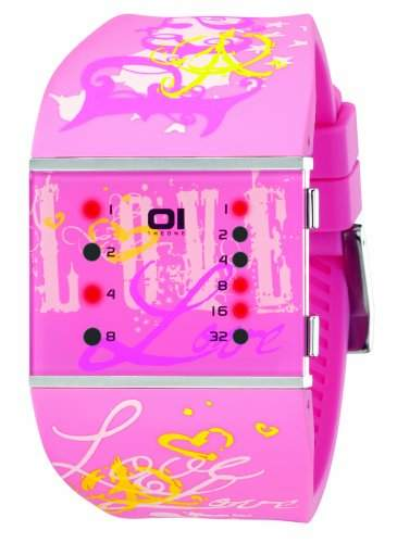 THE ONE - Binary Watch Damen-Armbanduhr Slim Square Lady Digital Quarz SLS138R3