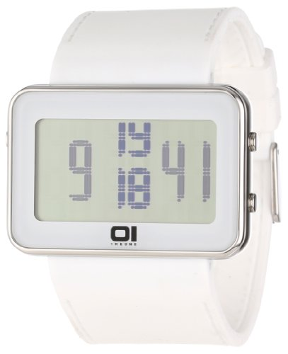 The One Herrendigitaluhr Widescreen IPLD104 3WH weiss grau