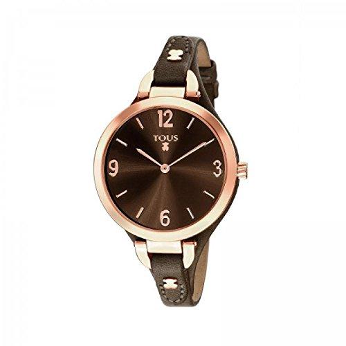 Uhr Tous Boheme 30 035 063 0 Quarz Batterie Stahl Quandrante Silber Armband Leder