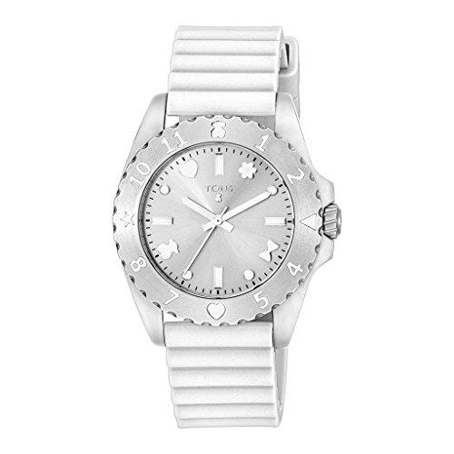 Uhr Tous Motif Gummi Armband weisse 500350115