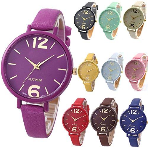yunan 10 Stueck Unisex Frauen Herren Geneva Uhren Big Zifferblatt Lover Geschenk Leder Armband Armbanduhr Wholesales