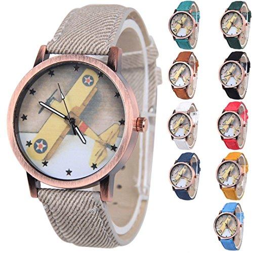 yunan 100 machen relogio Stoff Flugzeug Cartoon Armbanduhr Kinder Armbaender Uhren Frauen Maedchen Jungen