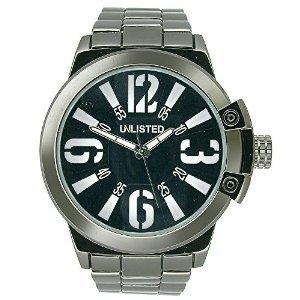 Nicht aufgefuehrte three hand Gunmetal Messing Herren Armbanduhr ul1314
