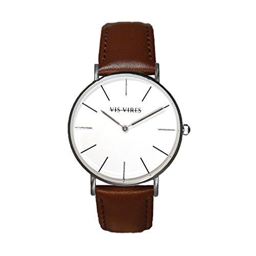 Vis VIRES Herren Silber Chesterfield Uhr die 40 mm