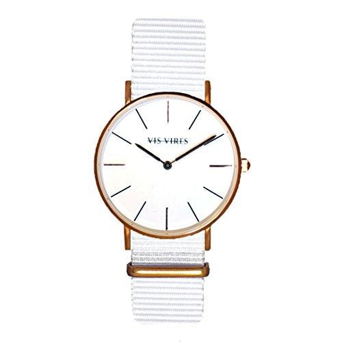 Vis VIRES Herren Wentworth weiss rose gold Uhr die 40 mm