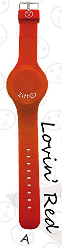 Uhr Zitto A LED mit Silikonband Lovin Red Rot Gross