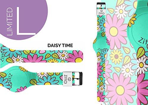 Uhr Zitto Grosse LED mit Silikonband Limited Edition daisytimeg