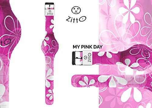 Uhr Zitto Grosse LED mit Silikonband Limited Edition mypinkdayg