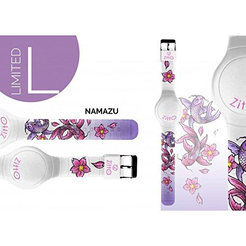 Uhr Zitto Grosse LED mit Silikonband Limited Edition namazug