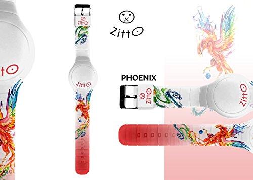 Uhr Zitto Grosse LED mit Silikonband Limited Edition phoenixg