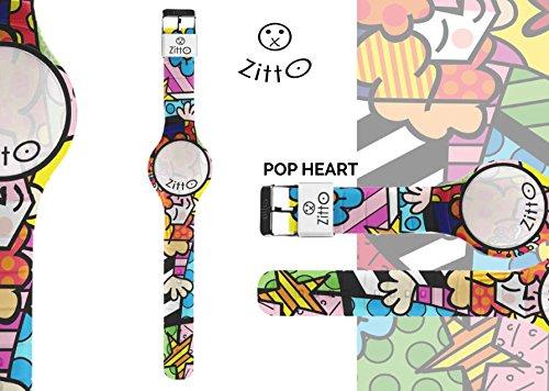 Uhr Zitto Grosse LED mit Silikonband Limited Edition popheartg
